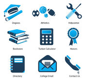 Higher Education Icons Set One stock illustration