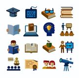 Higher education icons Royalty Free Stock Photography