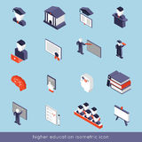 Higher Education Isometric Set Stock Photos