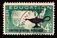 Higher Education Stamp Royalty Free Stock Image