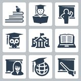 Higher education vector icons Stock Photography