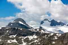 Higher Gjaidstein, Higher Dachstein and Lower Dachtein, Dachstein Mountains Stock Photo