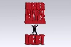 Higher Interest Rates royalty free illustration