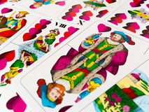 Higher Jack of hearts german playing cards. New deck Stock Photography