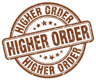 Higher order brown stamp Royalty Free Stock Image