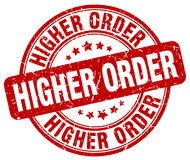 Higher order red stamp Stock Photo