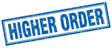 Higher order stamp. Higher order square grunge stamp. higher order sign. higher order vector illustration