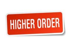 Higher order sticker. Higher order square sticker isolated on white background. higher order stock illustration