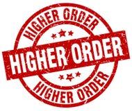 Higher order stamp. Higher order grunge vintage stamp isolated on white background. higher order. sign royalty free illustration