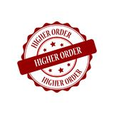 Higher order stamp illustration Royalty Free Stock Photography