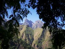 Higher parts of Simien mountains. View on higher parts of Simien mountains from below Sona village Royalty Free Stock Image