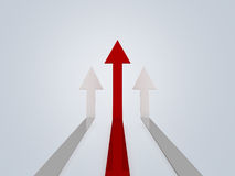 Higher Red Arrows Royalty Free Stock Photos