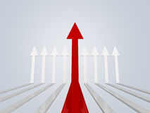 Higher Red Arrows Stock Photo