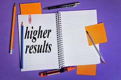 Higher results word Royalty Free Stock Images