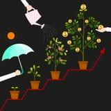 Higher returns Stock Image