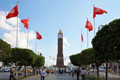 Higher security measures before elections, Tunis Royalty Free Stock Photos