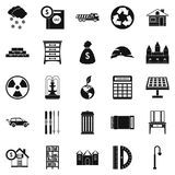 Higher society icons set, simple style. Higher society icons set. Simple set of 25 higher society vector icons for web isolated on white background Stock Photos