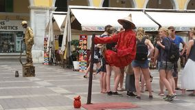 Higher standards. Street Performers in Maiorca, Spain Stock Images