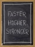 higher starkare blackboard snabbare royaltyfria foton
