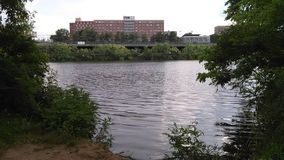 Free Higher Tidebut Not The Highest Of Raritan River. River Dorms. NJ, USA. Г. Stock Photo - 119798710