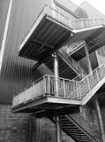 Higher up the ladder Stairs shoot in black and white Royalty Free Stock Photography