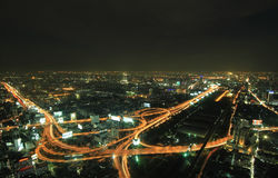 The highest aerial view of Bangkok, Thailand Royalty Free Stock Photography