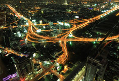 The highest aerial view of Bangkok, Thailand Stock Image