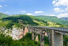 The highest bridge in Europe.Montenegro . Stock Photo