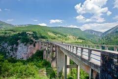 The highest bridge in Europe.Montenegro . Royalty Free Stock Photography