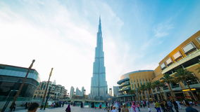 Highest building area day 4k time lapse from dubai stock video