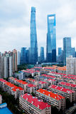 Highest buildings in Shanghai Stock Image