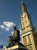 Highest church tower in Poland Stock Photos