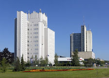 Highest College of the International Business. VILNIUS,  LITHUANIA - SEPTEMBER 09, 2016: The building of the Highest College of the International Business and Stock Image