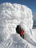 On the highest czech mountain stock photos