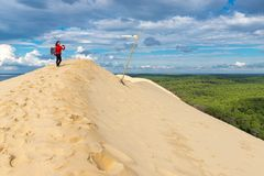 The highest dune of Europe royalty free stock photography