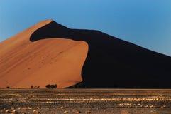Highest dune in the world, Namibia. Highest dune in the world near Sossusvlei and Dooie Vlei in Namib desert, Namibia Stock Images