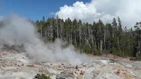 The highest geyser in Yellowstone National Park, Utah, USA stock footage