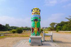The highest guardian lion in kinmen Stock Image