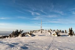 Velka luka hill on Martinske hole in Mala Fatra mountains in Slovakia during winter royalty free stock images