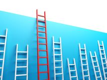 Highest Ladder Royalty Free Stock Photography