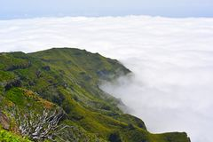The highest Madeira island mountain Pico Ruivo. Sunny summer day Stock Image