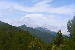 The highest Madeira island mountain Pico Ruivo. Stock Photo