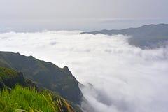 The highest Madeira island mountain Pico Ruivo. Stock Photos