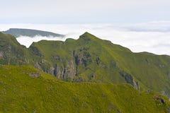 The highest Madeira island mountain Pico Ruivo. Royalty Free Stock Photo