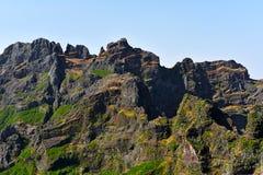 The highest Madeira island mountain Pico Ruivo. Royalty Free Stock Image