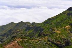 The highest Madeira island mountain Pico Ruivo. Royalty Free Stock Photography