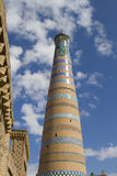Highest minaret in Khiva - Islam Khoja Royalty Free Stock Image
