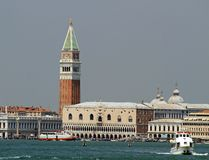 Highest and most famous bell tower in Piazza San Marco in Venice Royalty Free Stock Image