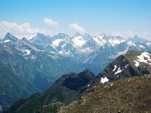 Highest mountain for alpinism fresh air and sport royalty free stock photos