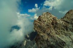 Highest mountain peak Zugspitze near Garmisch Partenkirchen. Bavaria, Germany. Stock Images